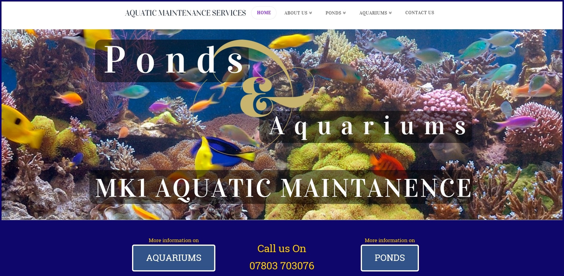 Website for Aquatic Maintenance MK1 by Malcolm King