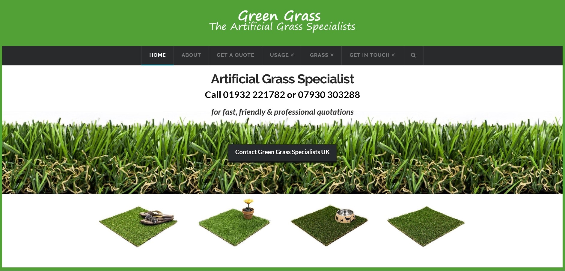 Website for Artificial Grass Specialist UK