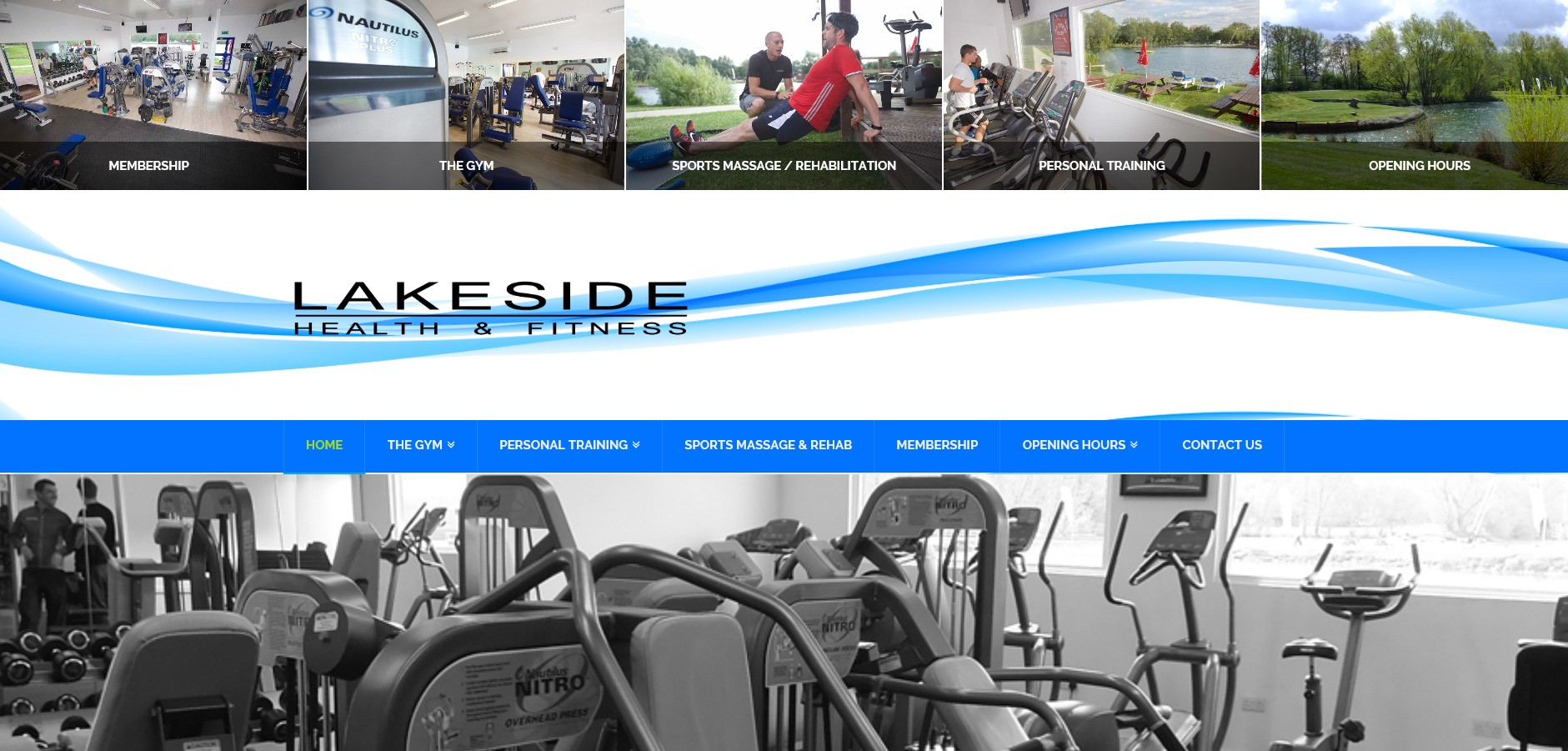 Website for Lakeside Health and Fitness